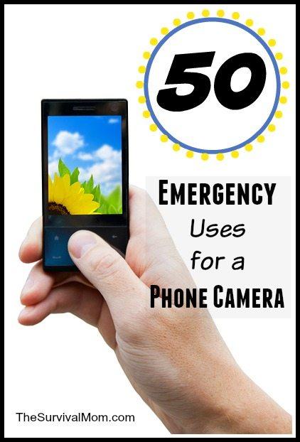 Here are 50 handy emergency uses for a phone camera. | via www.TheSurvivalMom.com