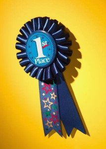 Wa-Hoo!  A shiny blue ribbon!