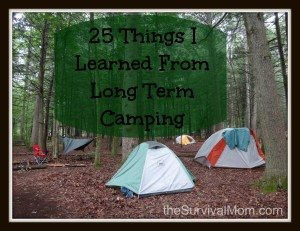 25 Things I Learnded from Long Term Camping
