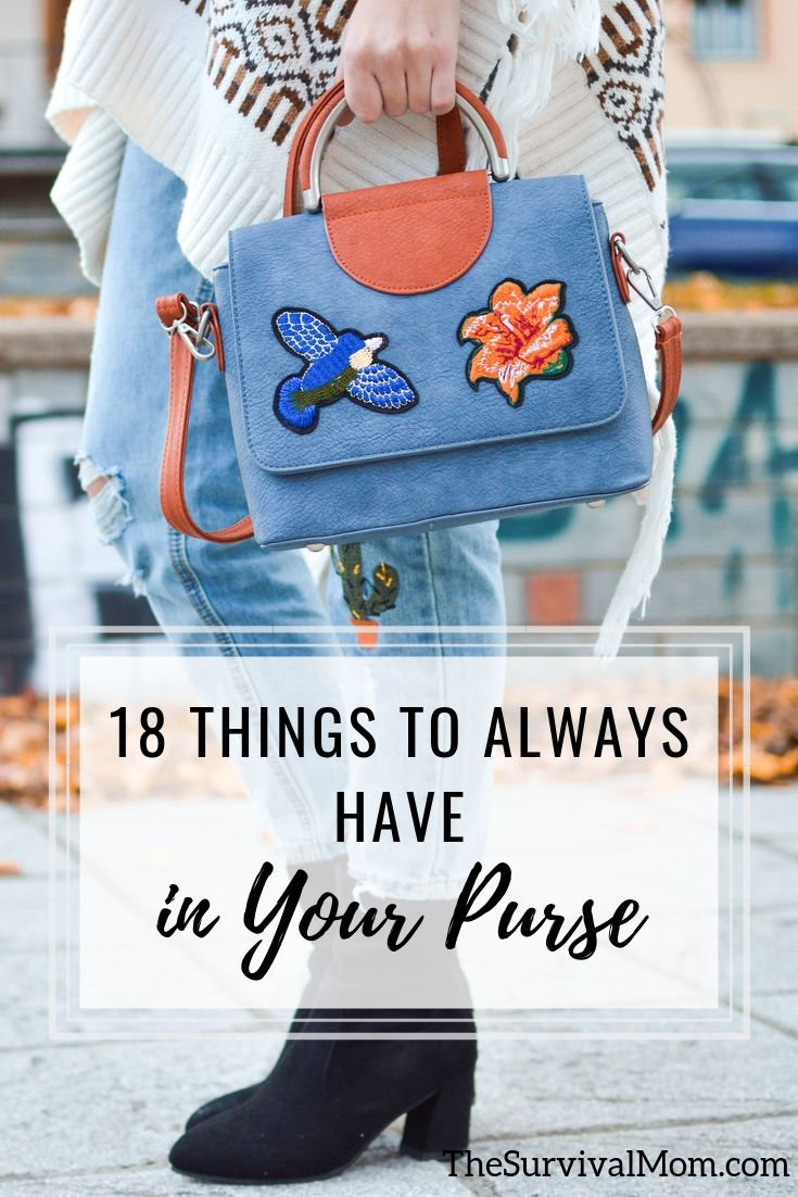 18 Things to Always Have in Your Purse , things to have in your purse