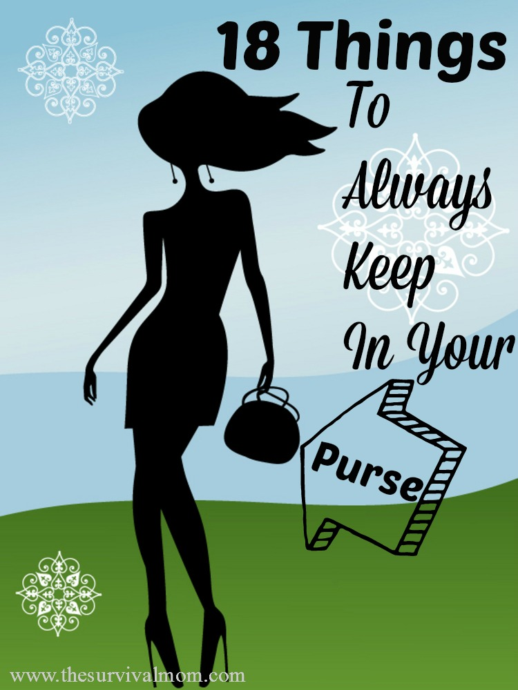 18 Things to always keep in your purse. Small items, but they come in handy!   via www.TheSurvivalMom.com