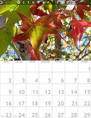 october calendar Preparedness mindset 2: We have about a year...