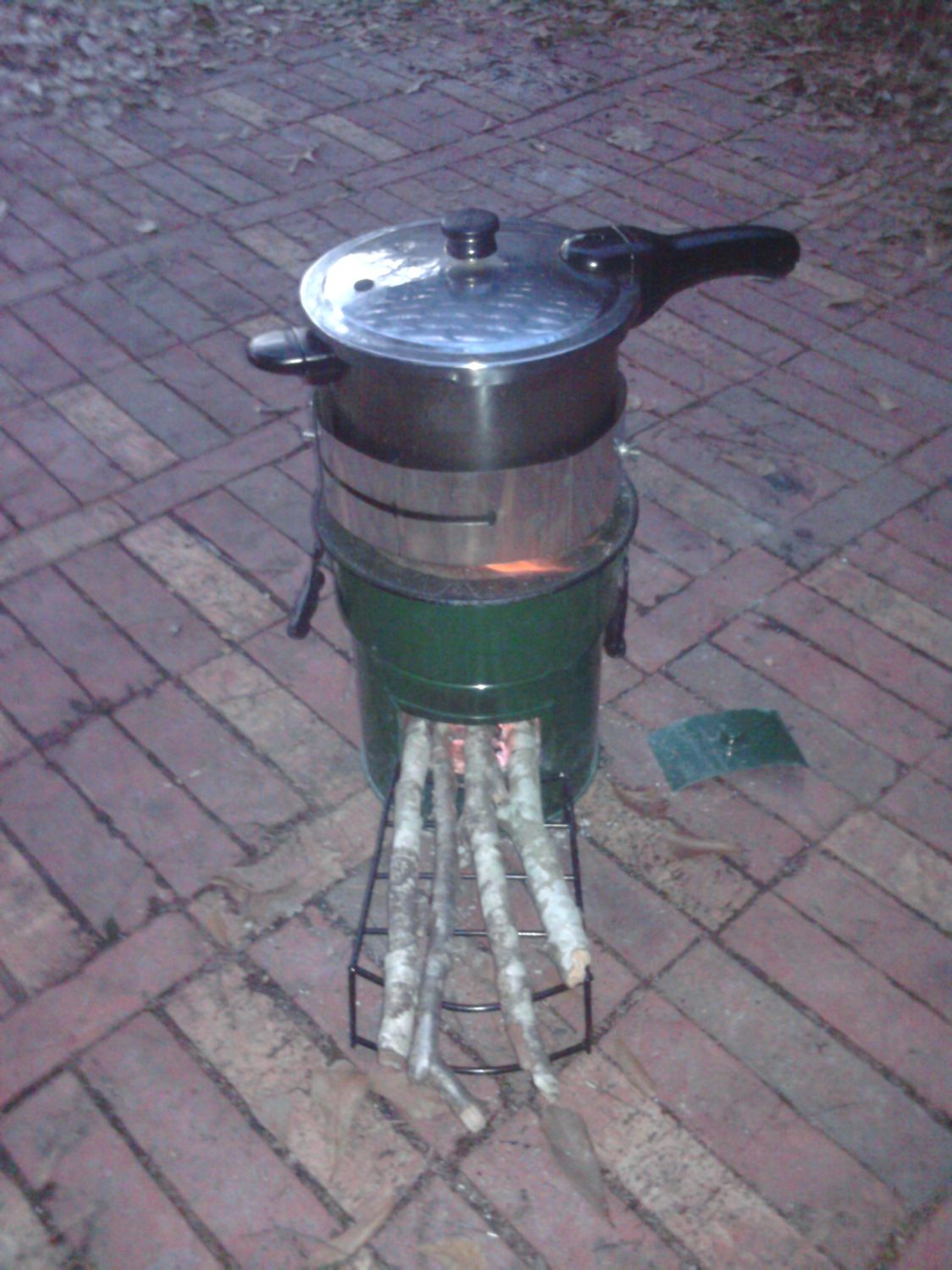 Rice Amp Beans On A Rocket Stove