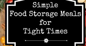Simple Food Storage Meals for Tight Times: Stock up on three months worth, fast!