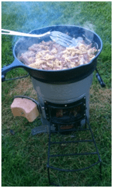 Camping Eggs on the Ecozoom Versa