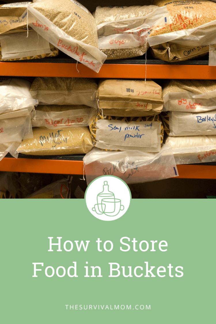 Many bags of bulk food on shelves