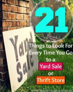 21 Things to Look For Every Time You Go To a Yard Sale or Thrift Store