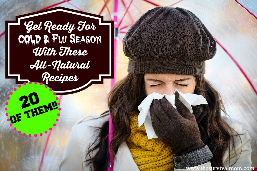 Get ready for cold & flu season with these 20 all-natural remedies. | via www.TheSurvivalMom.com