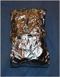 all wrapped up in foil