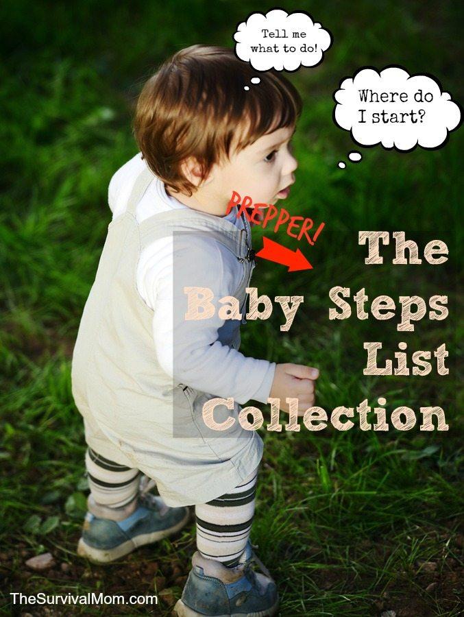 prepper baby steps