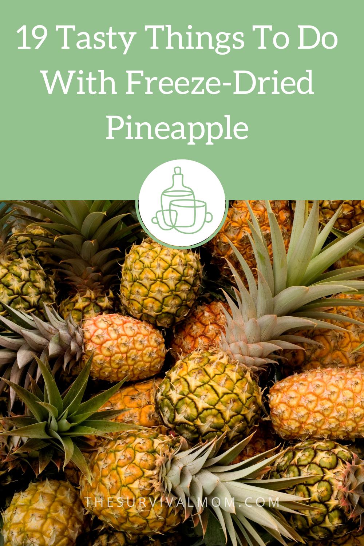 image: fresh pineapples, pile of pineapples