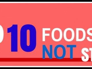 foods to not store header