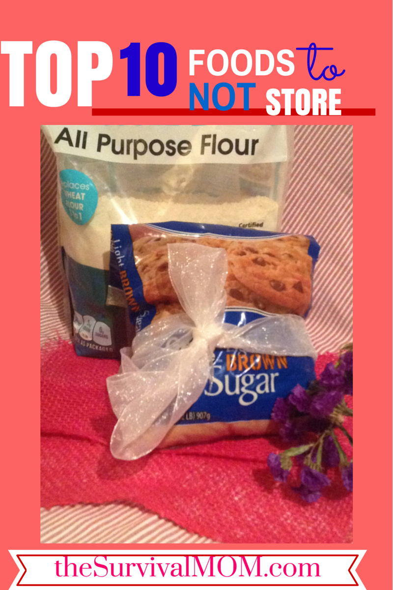 These are the top 10 foods I do NOT recommend storing, long-term!   via www.TheSurvivalMom.com
