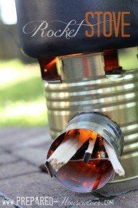 rocket stove close up