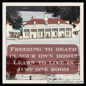 Freezing to death in your own home? Learn to live in just one room