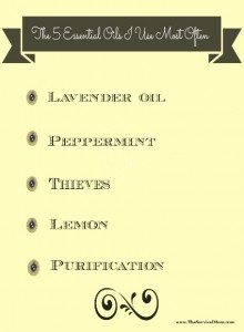 The 5 essential oils I use most often