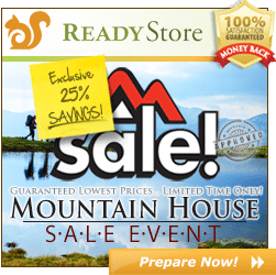Mountain House Sale at The Ready Store, ends 4/30