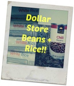 Dollar Store beans and rice