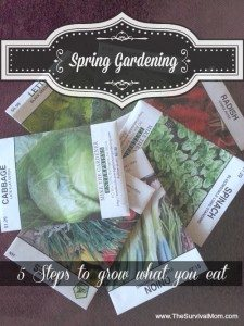 Spring Gardening: 5 Steps to Grow What You Eat