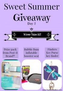 Sweet Summer Giveaway: Day 2 — 3 Cool gifts for 1 lucky mom