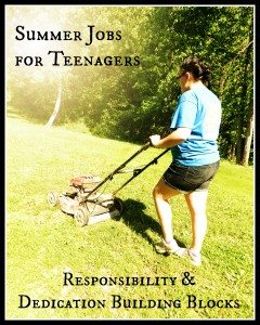 Summer Jobs for Teenagers: Responsibility & Dedication Building Blocks