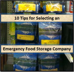 10 Tips for Selecting an Emergency Food Storage Company