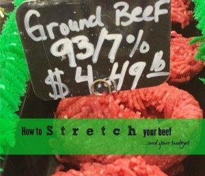 Extending Ground Beef