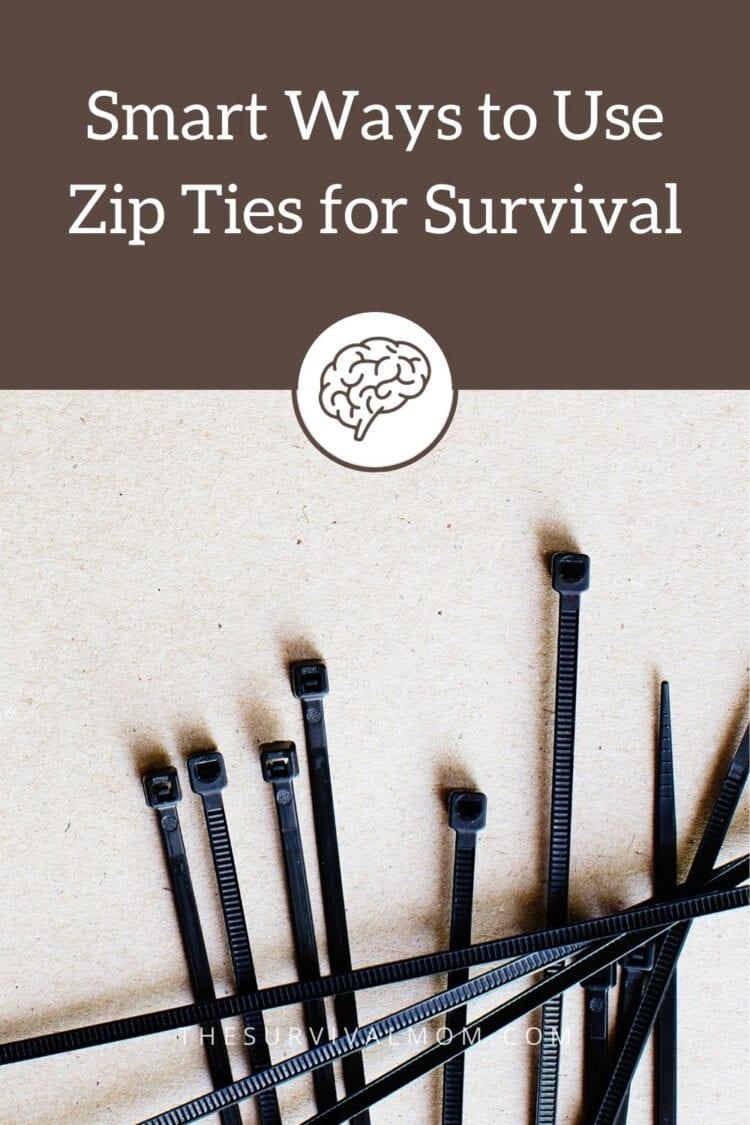 image: zip ties on concrete background