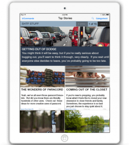 A prepper encyclopedia for your smart phone: the Proclivus phone app
