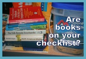 Are books on your emergency checklist?