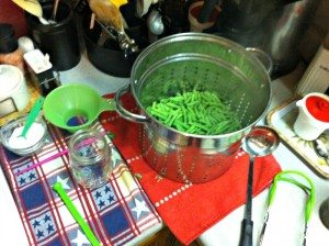 How to can green beans.