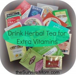 Drink Herbal Tea for Extra Vitamins