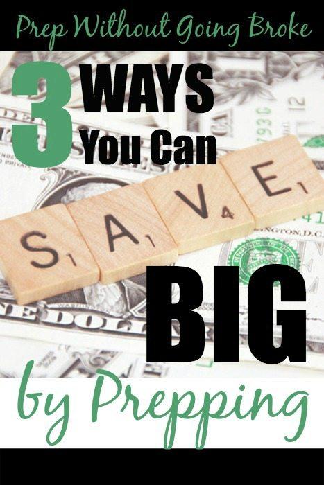save money prepping