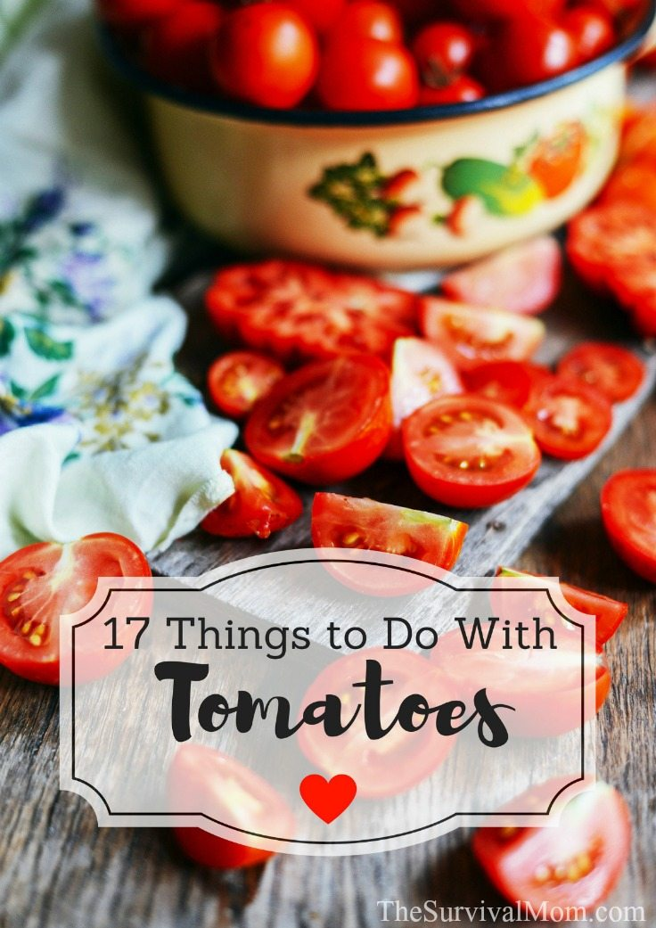 17 Things to Do With Tomatoes via The Survival Mom