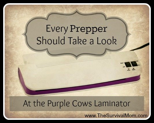 Every Prepper Should Take a Look at the Purple Cows Laminator