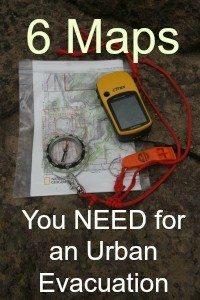 Six maps you need for an urban evacuation