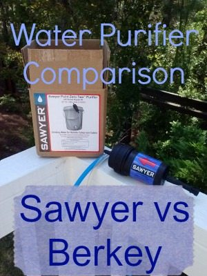 Water Purifier Comparison: The Sawyer Point ZeroTWO and The Berkeys