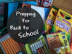 Prepping for Back to School