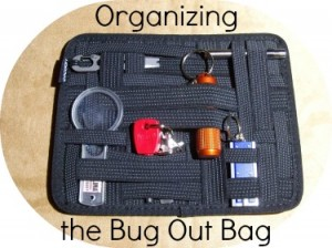 Organizing the Bug Out Bag