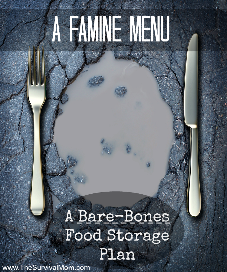 famine menu food storage