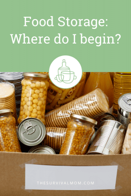 image: canned food, dry foods, foods for storage, jars of food