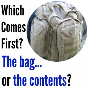 Which comes first the pack or the contents?