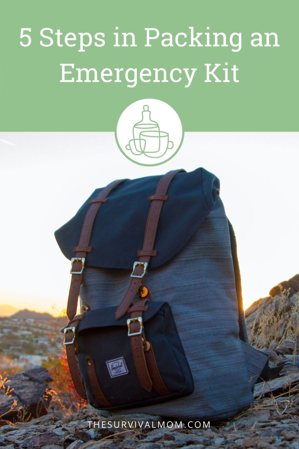 5 Steps in Packing an Emergency Kit via The Survival Mom