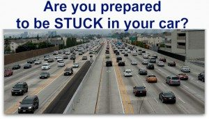 Are you prepared to be stuck in your car?