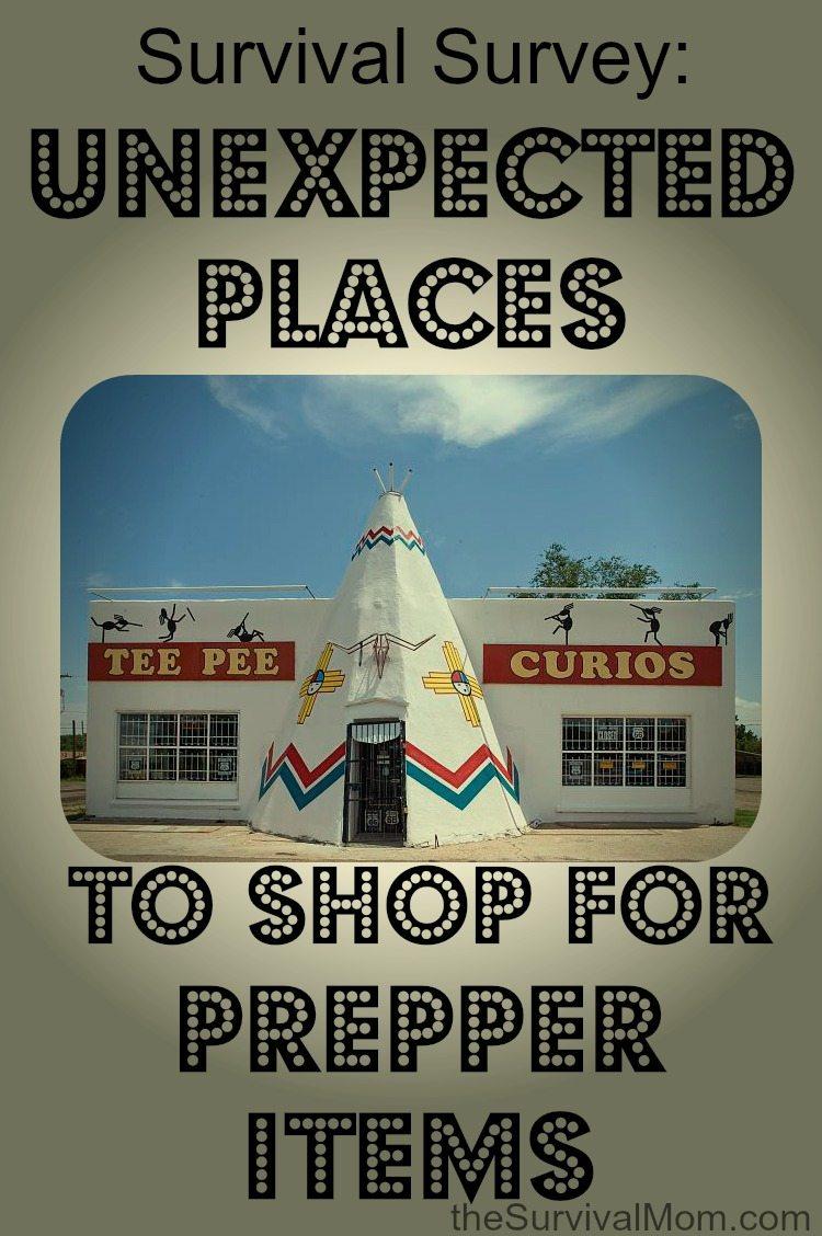 Survival Survey: Unexpected Places to Shop for Prepper Items