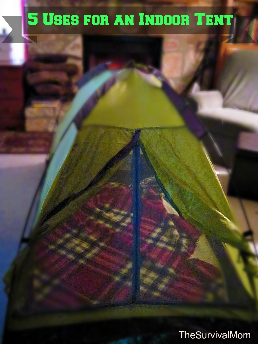 DOMETENTHelenCates & 5 Uses for an Indoor Tent - Survival Mom