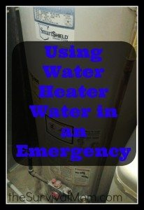 Using Water Heater Water in an Emergency