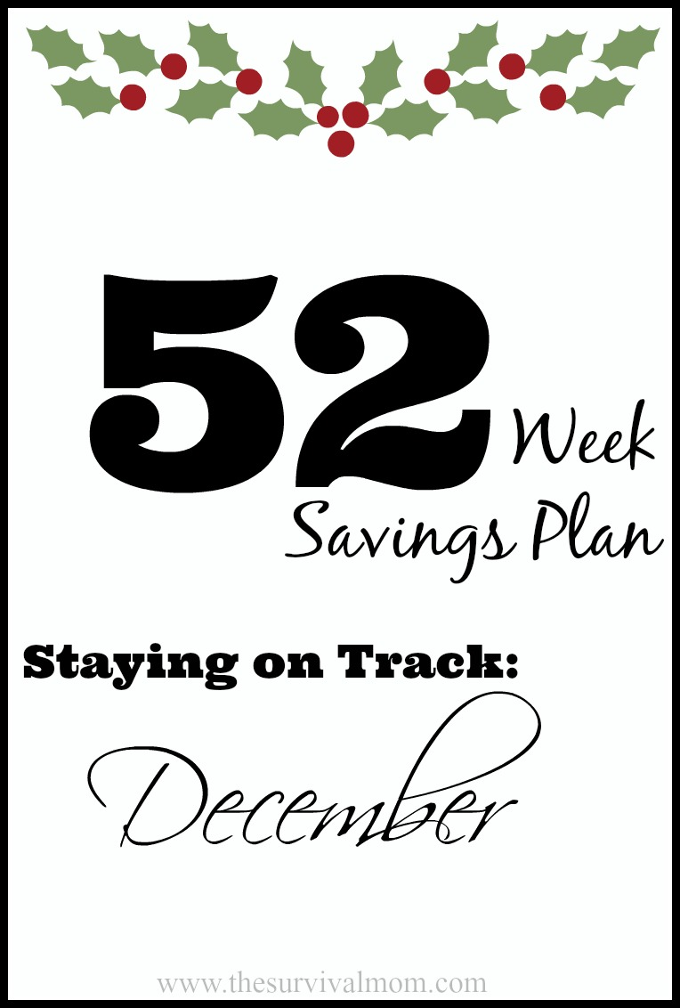 52 weeks savings plan December