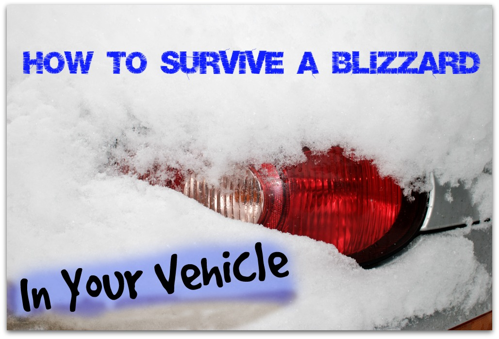 How to survive a blizzard if you get stranded in your vehicle. Smart to plan and think ahead, just in case!   via www.TheSurvivalMom.com