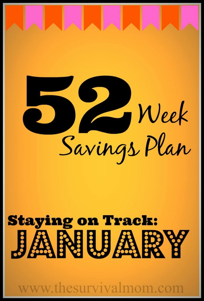 Get on the 52 Week Savings Plan and start saving money with these January bargains! | via www.TheSurvivalMom.com